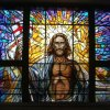 Resurrected Christ stained glass window sample - Co Cathedral of the Sacred Heart - Houston  TX – 700 sf. – yr. 2006