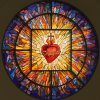 Sacred Heart Rose Window- Co Cathedral of the Sacred Heart - Houston  TX – 200 sf. – yr. 2006