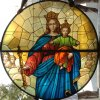 Our Lady Help of Christians stained glass window – Firenze ITA – 30 sf. – yr- 2013
