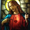 Sacred Heart of Jesus stained glass window – 10 sf.  – yr.  2008
