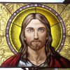 Saviour Christ stained glass window – 10 sf. -  yr. 2013