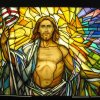 Resurrected Christ stained glass window - Co Cathedral of the Sacred Heart - Houston TX - 700SF – yr. 2006