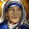 St. Teresa of Calcutta (detail)– Chapel North American Collage – Vatican City – 25 sf. – yr. 2014