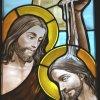 Baptism of Jesus detail - Adoration Chapel - St. John Newmann - Austin TX - 20 sf. – yr. 2014
