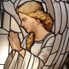 Angel (detail) – Adoration Chapel – St. John Newmann – Austin TX – 50 sf. – yr. 2014